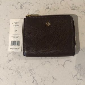 Tory Burch brown leather wallet